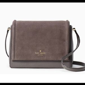 Kate Spade Gray Crossbody with dust bag included
